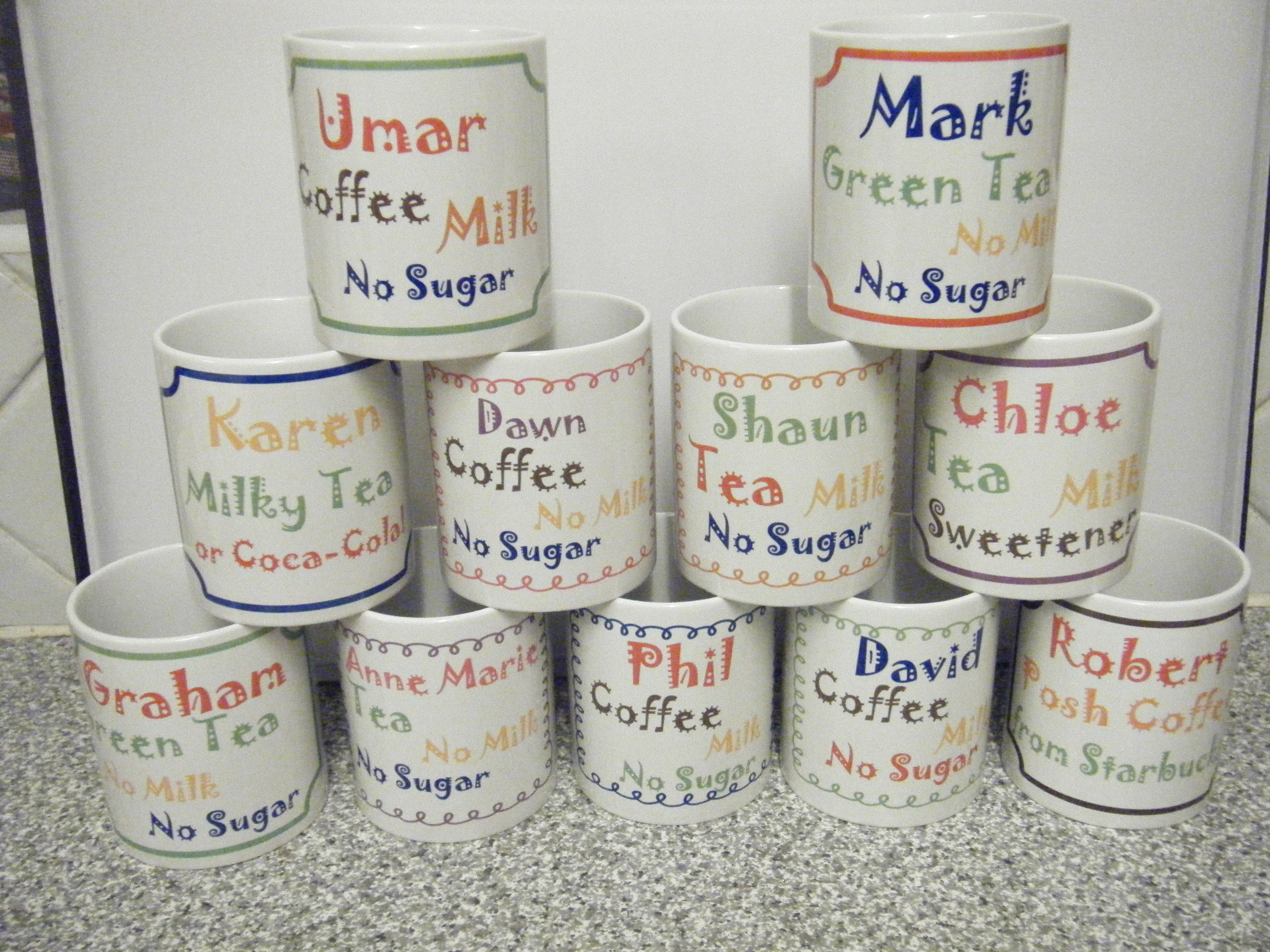 Mugs personalised