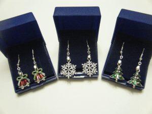 Christmas Tibetan Silver Earrings